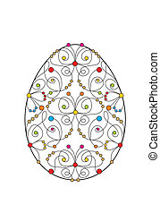 easter card with engraving egg