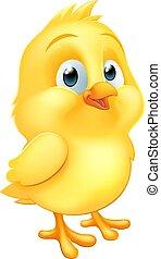 Easter Chick Little Baby Chicken Bird Cartoon