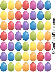 Easter Eggs Color Spectrum Background