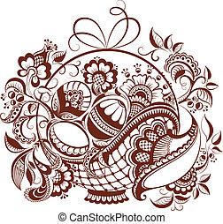 Easter floral henna design