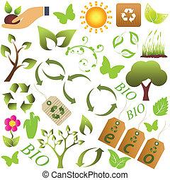 Eco and environment symbols