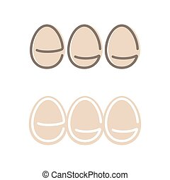 Egg Shape Logo Set. Minimalism Style Logotype. Vector