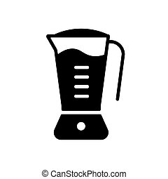 Electric blender vector glyph icon