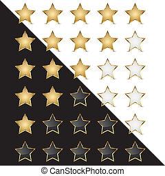 Elegant Golden Rating Stars