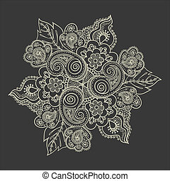 Elegant lace pattern-model for design of gift packs, patterns fabric, wallpaper, web sites, etc.