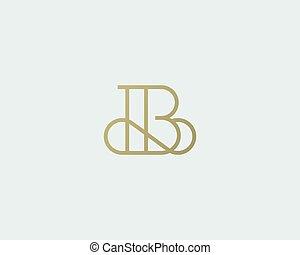 Elegant line curve vector logotype. Premium letter B logo design. Luxury linear creative monogram.