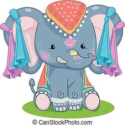 Elephant Festival Illustration