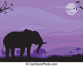 Elephant Savanna Background