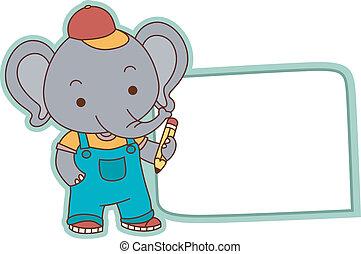 Elephant Student Label