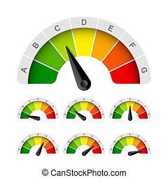Energy efficiency rating illustration