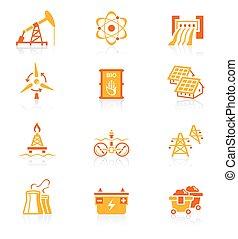 Energy icons JUICY series