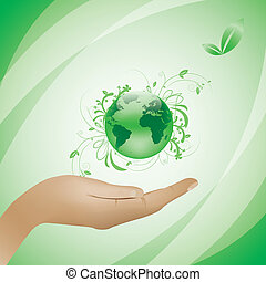Environment concept green background