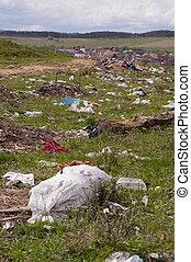 Environment pollution - dumping near village