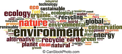 Environment word cloud concept. Vector illustration