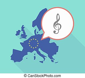 EU map with a g clef