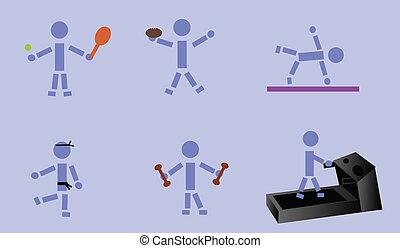 Exercising Stick Figure