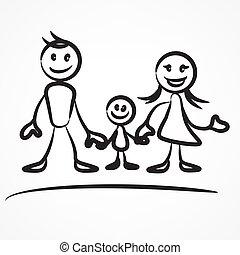 Family stick figure
