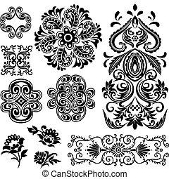 fancy swirl floral pattern design