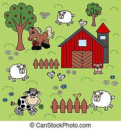 farm background pattern
