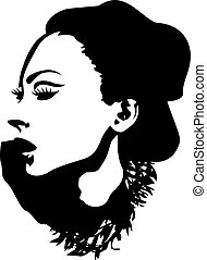 fashion lady graphic design