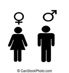 Art illustration Depicting the male and female sex symbols