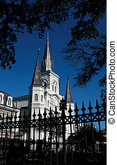 Fence in front of St Louis Cathedral in New Orleans