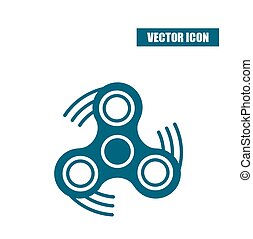 Fidget spinner icon in flat style isolated on white background