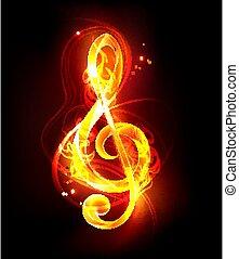 Fiery musical key
