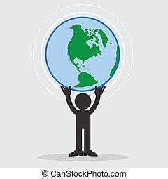 Figure Holding Earth
