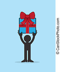Figure Holding Gift