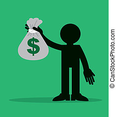 Figure Holding Money Bag