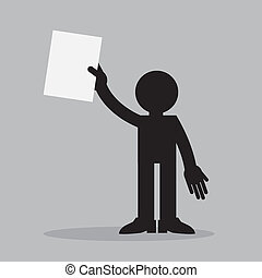Figure Holding Paper Up