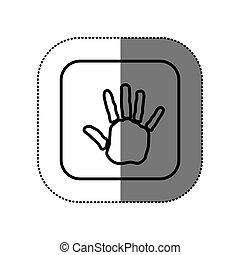 figure symbol hand icon