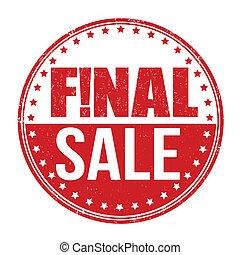 Final sale grunge rubber stamp on white background, vector illustration