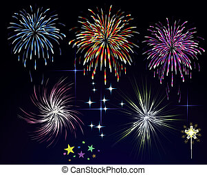 Grand finale for a fireworks display in vector