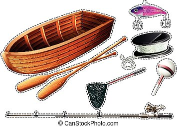Fishing boat and other fishing equipments