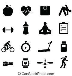 Fitness and diet icons