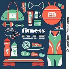 Fitness Icons set.
