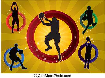 Five basketball player