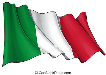 Clean cut waving flag with clipping path.