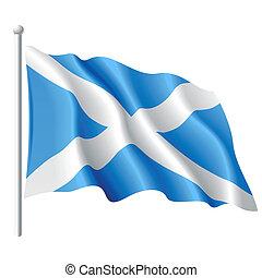 Vector illustration of flag of Scotland
