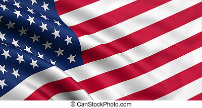 3d rendered flag of the USA