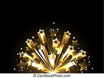 Flash of golden stars