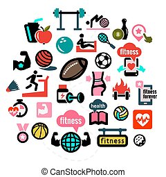 flat fitness icons 1