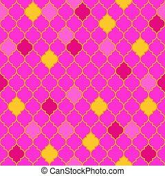 Flat moroccan seamless pattern vector