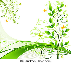 Floral abstract backgrounds vector