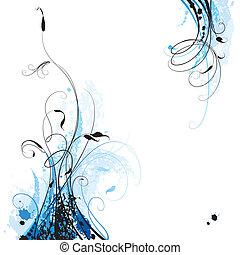 Floral Background, editable vector illustration