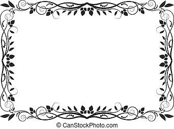 floral border - decorative frame