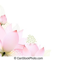 Floral Border With Gradient Mesh, Vector Illustration