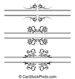 Illustrated floral black and white elements banner and copy space